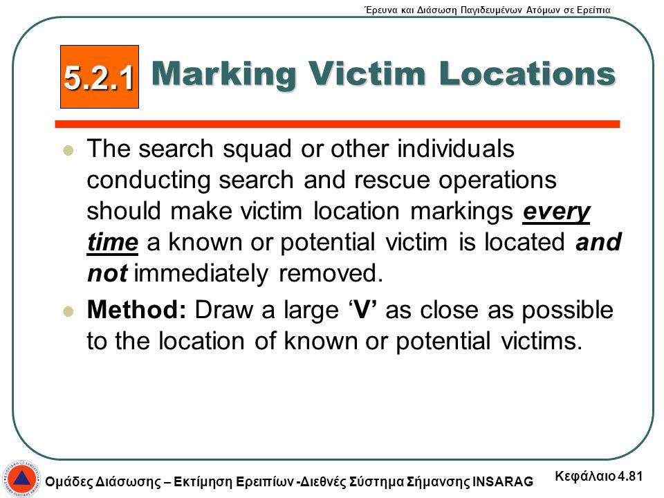 Έρευνα και Διάσωση Παγιδευμένων Ατόμων σε Ερείπια Ομάδες Διάσωσης – Εκτίμηση Ερειπίων -Διεθνές Σύστημα Σήμανσης INSARAG Κεφάλαιο 4.81 The search squad