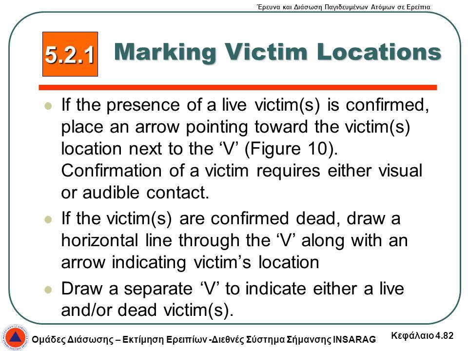 Έρευνα και Διάσωση Παγιδευμένων Ατόμων σε Ερείπια Ομάδες Διάσωσης – Εκτίμηση Ερειπίων -Διεθνές Σύστημα Σήμανσης INSARAG Κεφάλαιο 4.82 If the presence