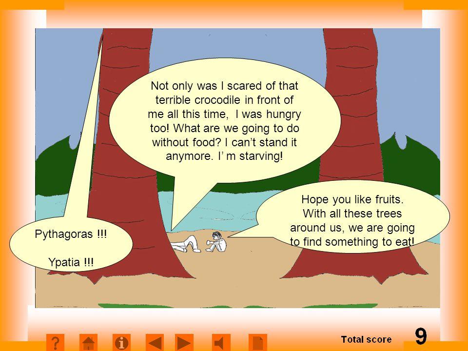 Πεινασμένοι Εισαγωγή Not only was I scared of that terrible crocodile in front of me all this time, I was hungry too.