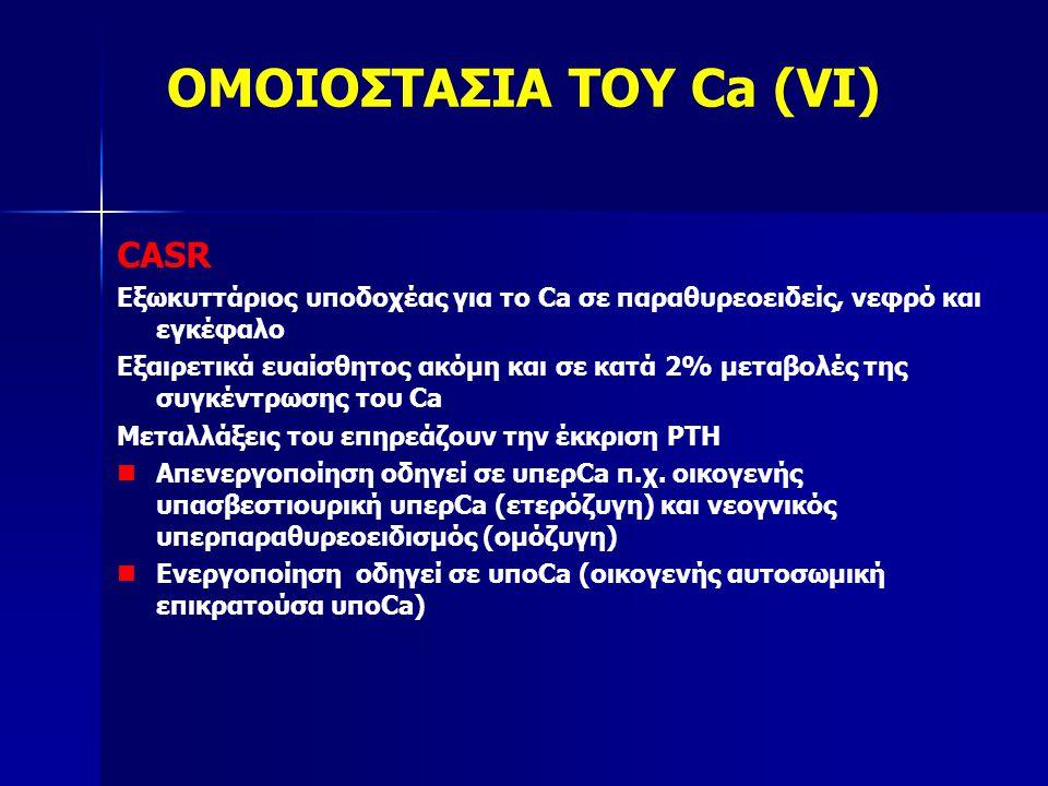Χαμηλό cCa, υψηλός P, χαμηλή PTH, χαμηλό ή κ.φ Mg, κ.φ.