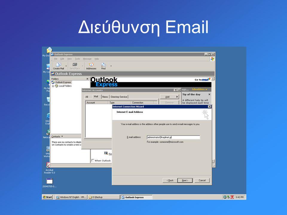 Διεύθυνση Email
