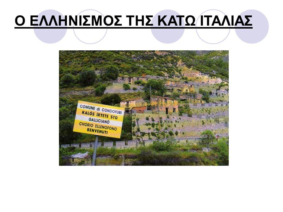 Η ελληνική γλώσσα στις περιοχές της Κάτω Ιταλίας μελετήθηκε και γι' αυτό το λόγο διατυπώθηκαν δύο θεωρίες.