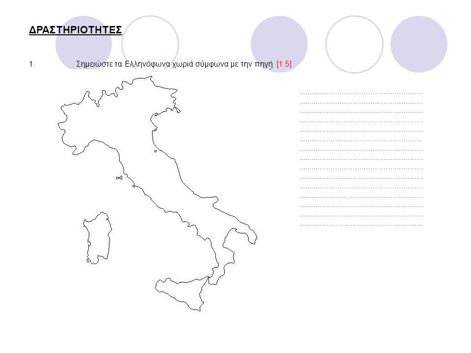 3.Για ποιο λόγο πιστεύετε, ο Φίλλιπο Κοντέμι έγραψε τη Γραμματική των διαλέκτων των κατοίκων της Κάτω Ιταλίας;..........................................................................................................................................................................................................................................................................................................................................................................................................................................................