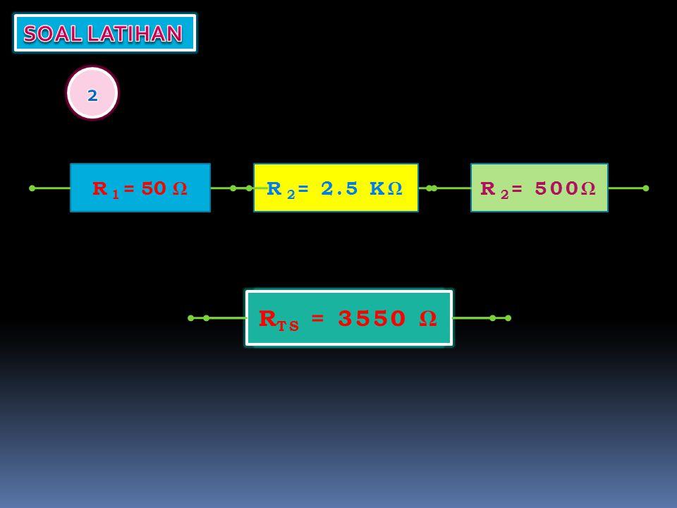 R TS = R 1 = 50 ΩR 2 = 2.5 KΩ R TS = 3550 Ω R 2 = 500Ω