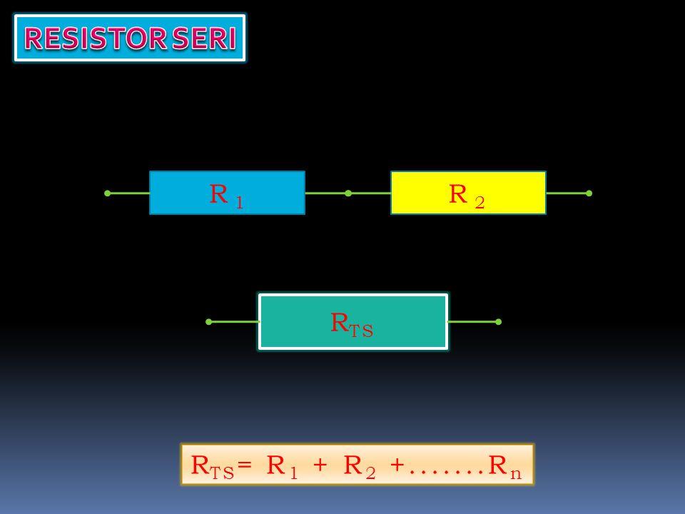 R TS = ? R 1 = 50 ΩR 2 = 30Ω R TS = 80 Ω R TS = R 1 + R 2 +.......R n R TS = 50 + 30 = 80 Ω
