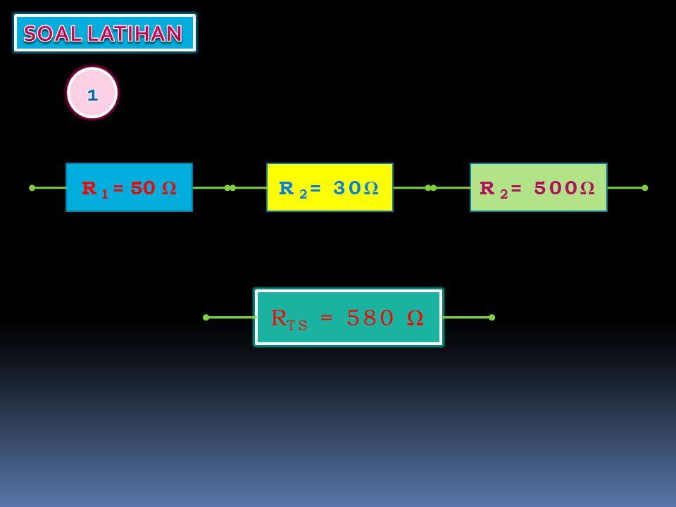 R TS = ? R 1 = 50 ΩR 2 = 2.5 KΩ R TS = 3550 Ω R 2 = 500Ω
