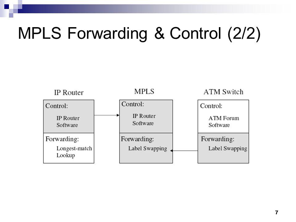 7 MPLS Forwarding & Control (2/2)
