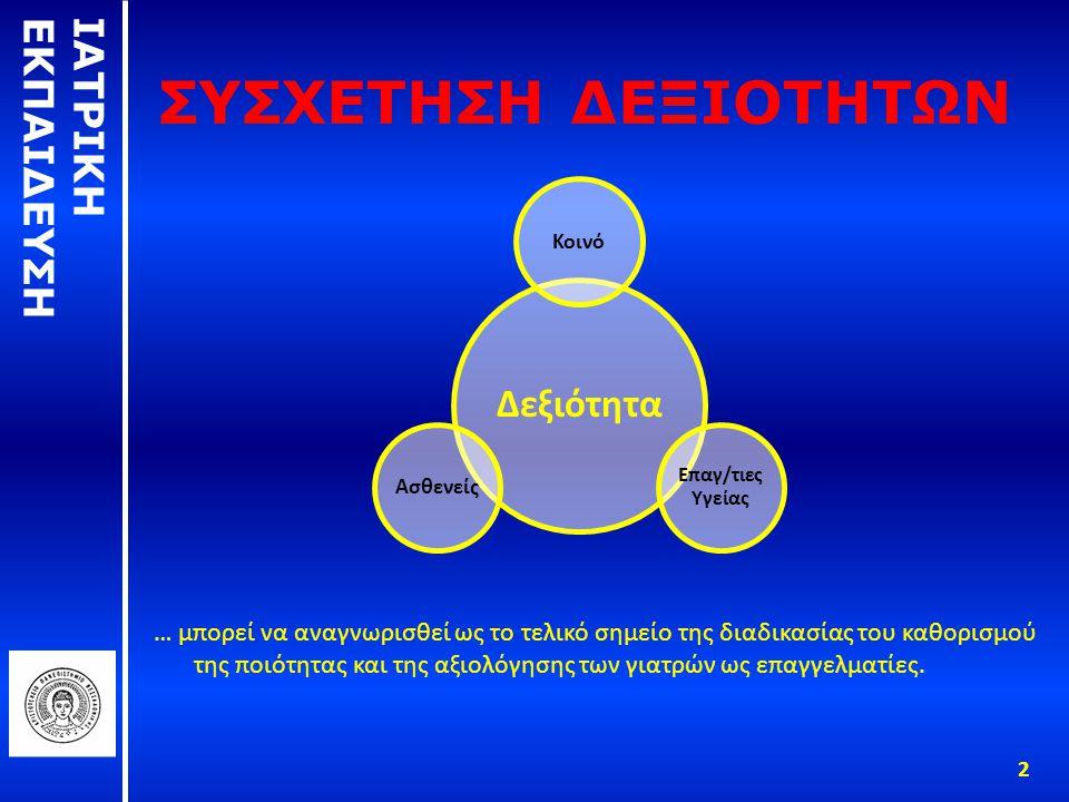 Η ΑΕΝΑΗ ΑΝΑΖΗΤΗΣΗ ΓΙΑ ΝΑ ΟΡΙΣΤΕΙ ΟΡΘΑ Η ΑΡΜΟΔΙΟΤΗΤΑ Αριστοτέλης: θεωρεί πως η ικανότητα της ιατρικής πράξης πρέπει να κρίνεται από τον ίδιο τον ιατρό και έπειτα από όλους τους συναδέλφους του, κυρίως μέσω των εμπειριών.