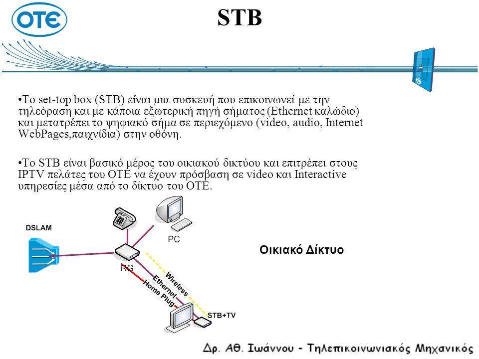 Το set-top box (STB) είναι μια συσκευή που επικοινωνεί με την τηλεόραση και με κάποια εξωτερική πηγή σήματος (Ethernet καλώδιο) και μετατρέπει το ψηφι
