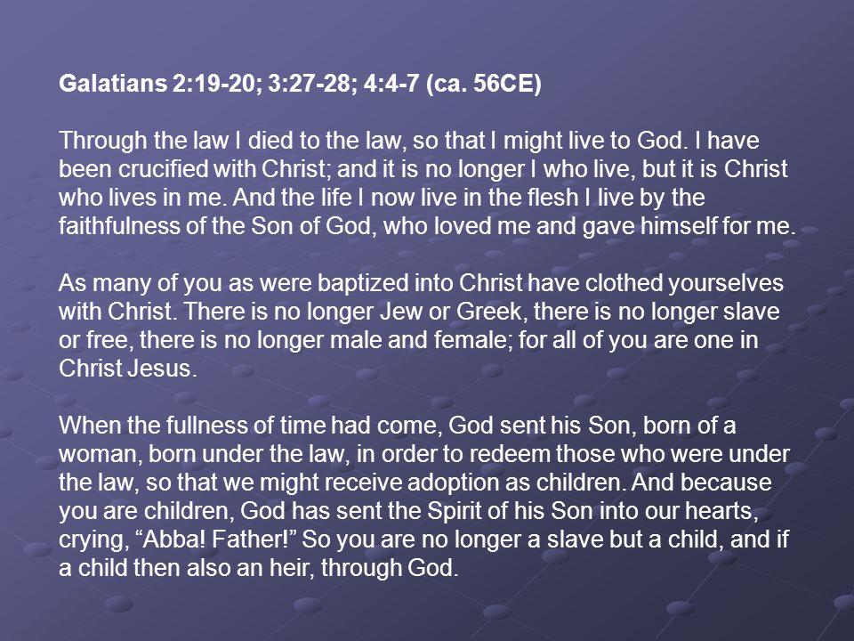 Philippians 2:5-11 (ca.