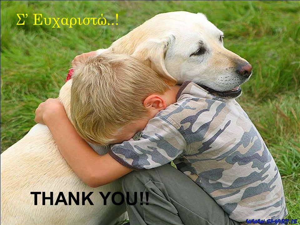 THANK YOU! Σ' Ευχαριστώ..!