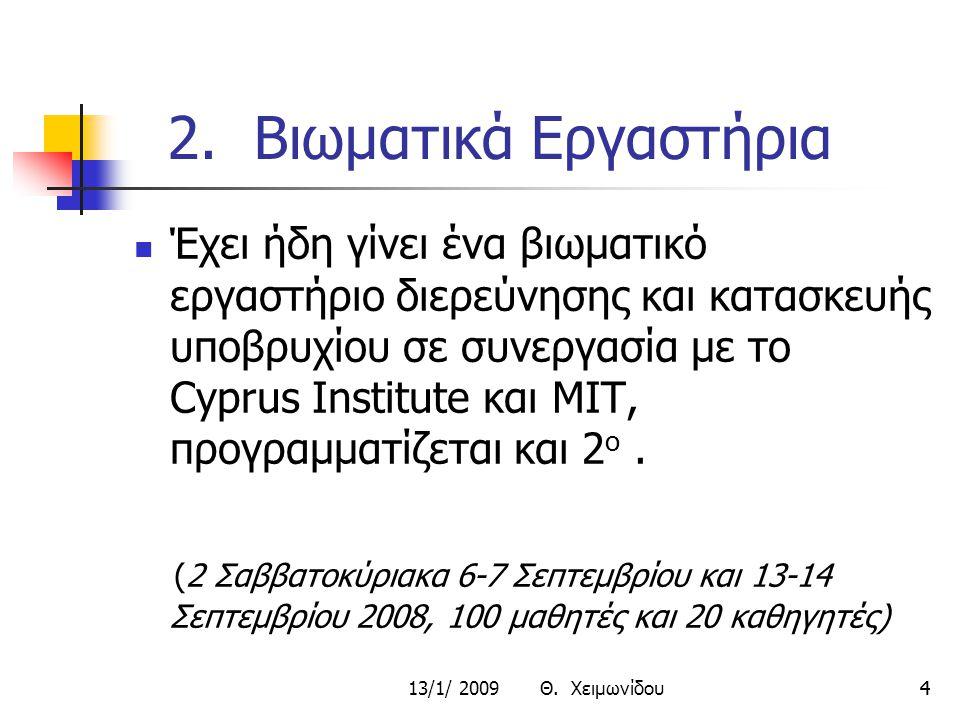 13/1/ 2009 Θ.Χειμωνίδου55 3. Σεμινάρια 1 1.