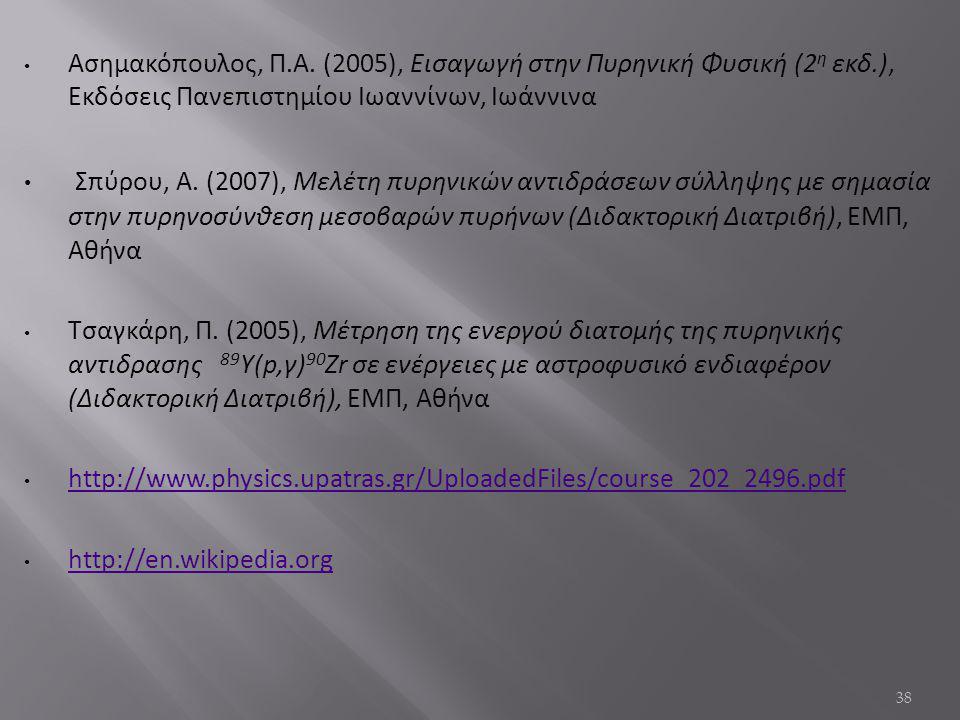 Ασημακόπουλος, Π.Α.