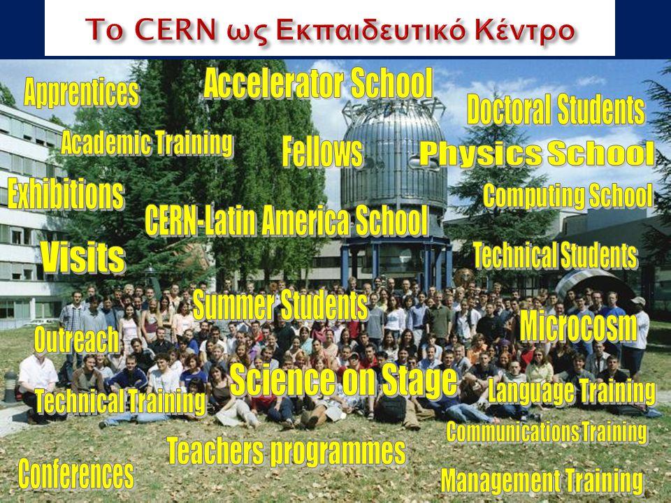 Οι επιστήμονες του CERN Το Ακαδημαϊκό Εκπαιδευτικό Πρόγραμμα Young Researchers CERN School of High Energy Physics CERN School of Computing CERN Accelerator School Physics Students Summer Students Programme CERN Teacher Schools International and National Programmes CERN School of Physics Cheile Gradistei, Romania, Sep 2011 Latin American School Natal, Brazil, 2011 Το CERN ως Εκπαιδευτικό Κέντρο