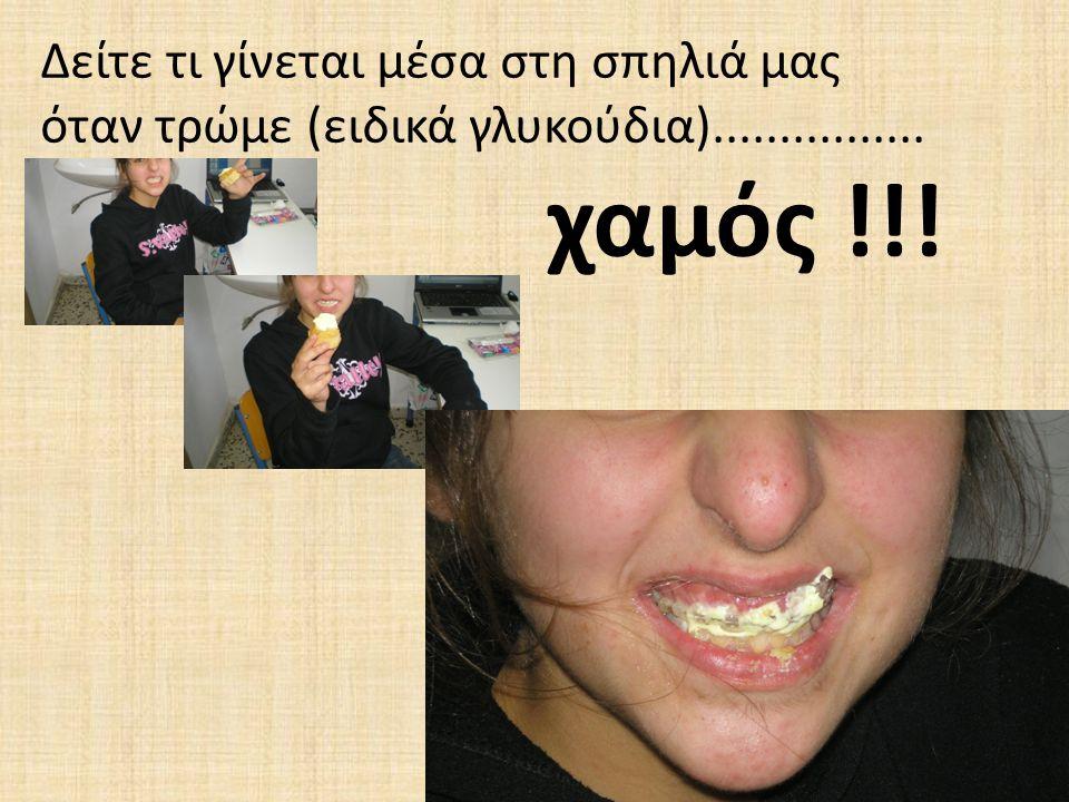 Δείτε τι γίνεται μέσα στη σπηλιά μας όταν τρώμε (ειδικά γλυκούδια)................ χαμός !!!