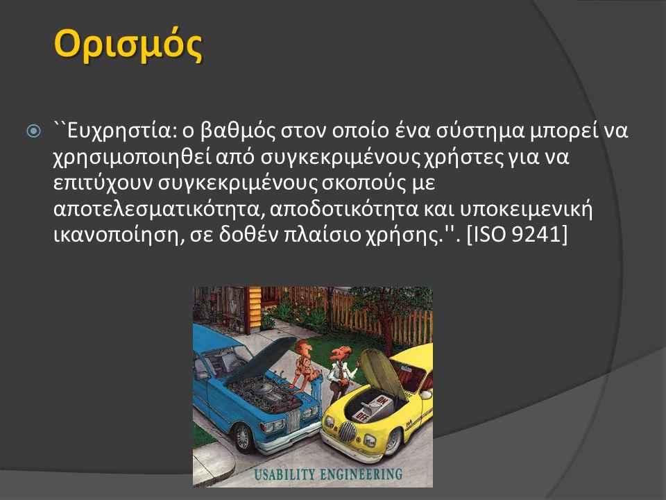  Στόχος ελαχιστοποίηση ταχύτητας φόρτωσης ιστοσελίδας  Υποβοήθηση αναζήτησης (τοπικές μηχανές αναζήτησης)  Υποστήριξη πλοήγησης  Μέγεθος ιστοσελίδων (αποφυγή κύλισης)  Απλότητα (χρώμα, κινούμενα γραφικά κλπ)  υπερ-χρησιμοποίηση τεχνολογίας  απλή διεύθυνση - τίτλος σελίδας  αυθύπαρκτος χαρακτήρας σελίδας  διατήρηση επικαιρότητας υλικού  ομοιομορφία - τήρηση συμβάσεων  αρχές αναγνωσιμότητας υπερ-κειμένων