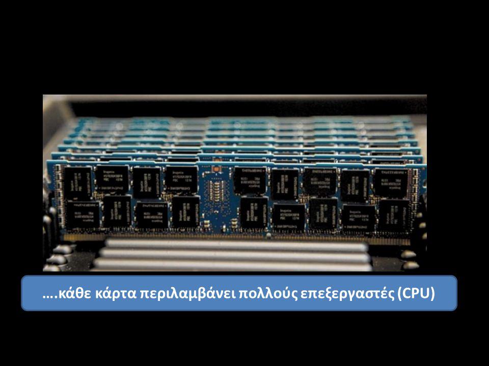 ….κάθε κάρτα περιλαμβάνει πολλούς επεξεργαστές (CPU)