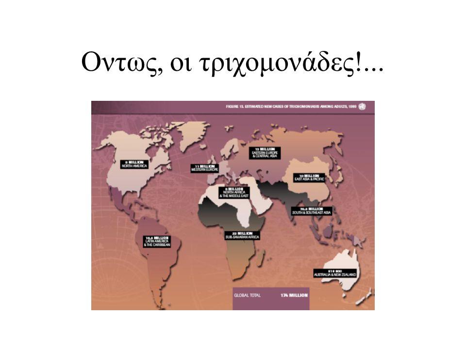 HIV/AIDS παγκοσμίως ΠΟΥ (who.int προσβ.1-12-2008)