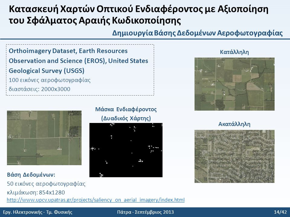 Orthoimagery Dataset, Earth Resources Observation and Science (EROS), United States Geological Survey (USGS) 100 εικόνες αεροφωτογραφίας διαστάσεις: 2000x3000 Εργ.