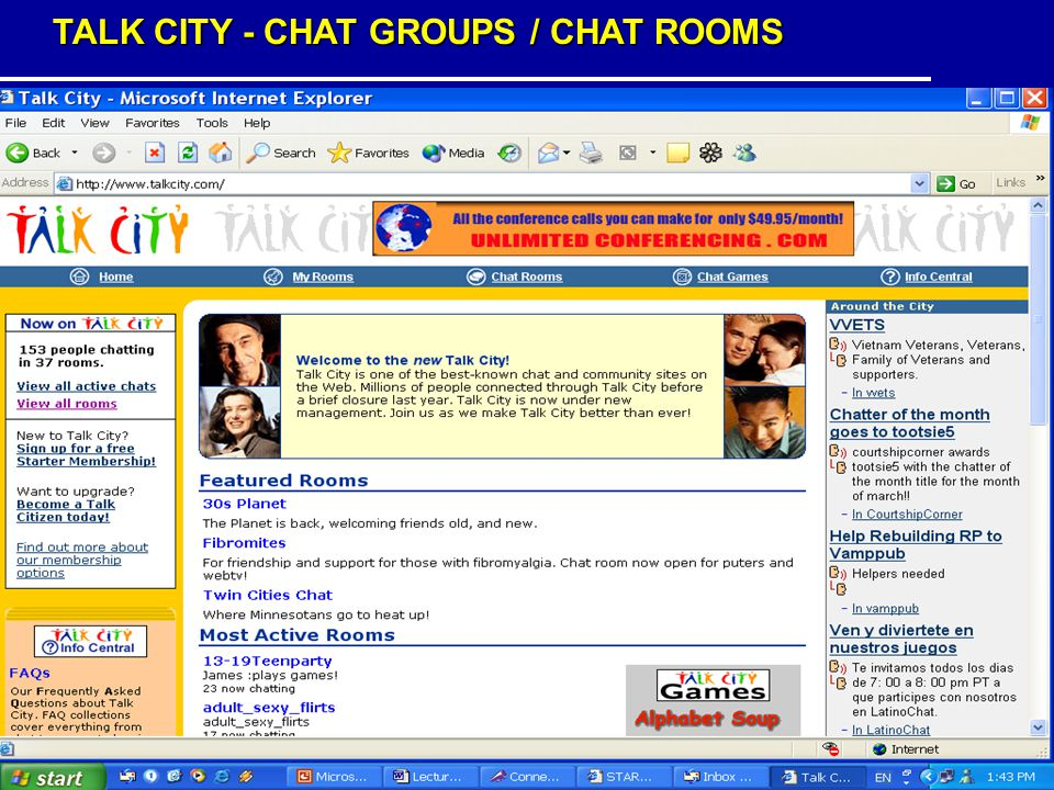 TALK CITY - CHAT GROUPS / CHAT ROOMS