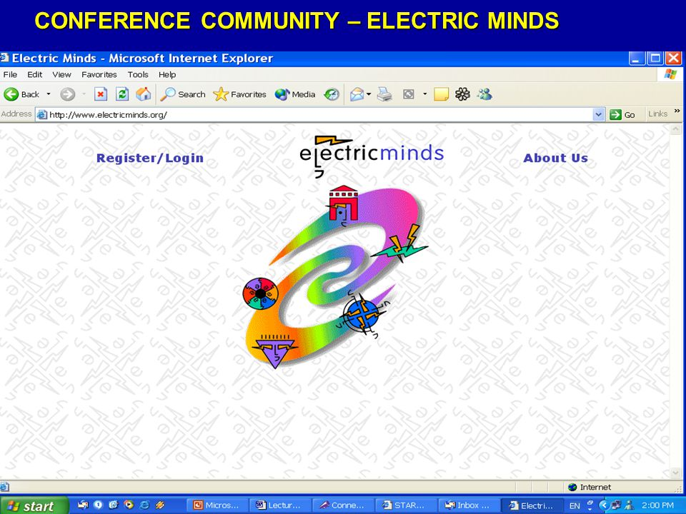 CONFERENCE COMMUNITY – ELECTRIC MINDS