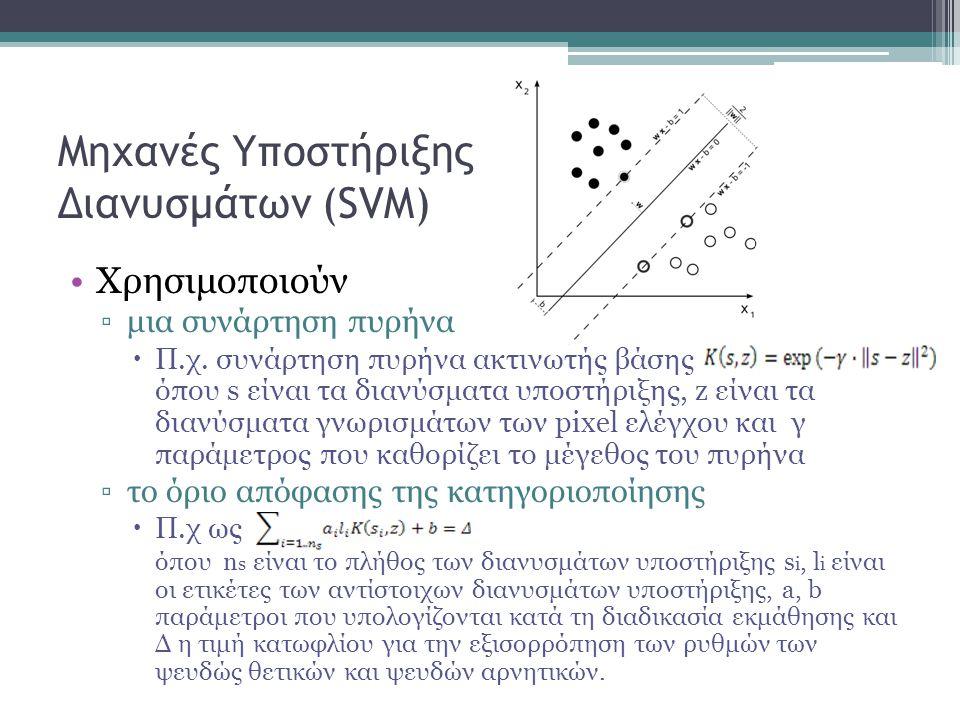 Μηχανές Υποστήριξης Διανυσμάτων (SVM) Χρησιμοποιούν ▫μια συνάρτηση πυρήνα  Π.χ.