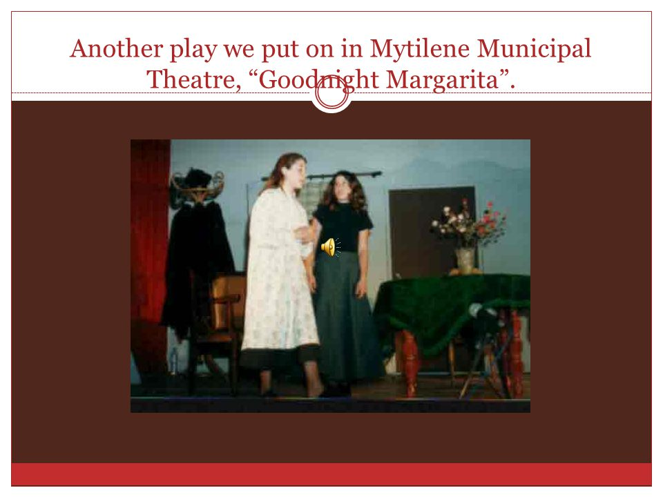 From the play The Monster of the Bull , Mytilene Municipal Theatre, April 2006.