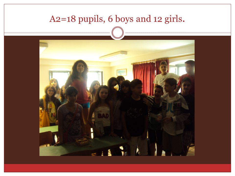 A1=19 pupils, 6 boys and 13 girls.