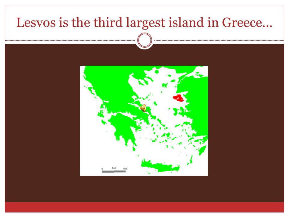 Lesvos is the third largest island in Greece…