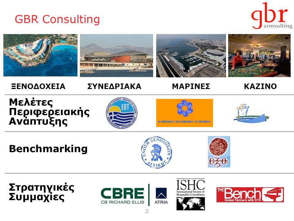 2 GBR Consulting Μελέτες Περιφερειακής Ανάπτυξης ΞΕΝΟΔΟΧΕΙΑΣΥΝΕΔΡΙΑΚΑΜΑΡΙΝΕΣΚΑΖΙΝΟ Benchmarking Στρατηγικές Συμμαχίες