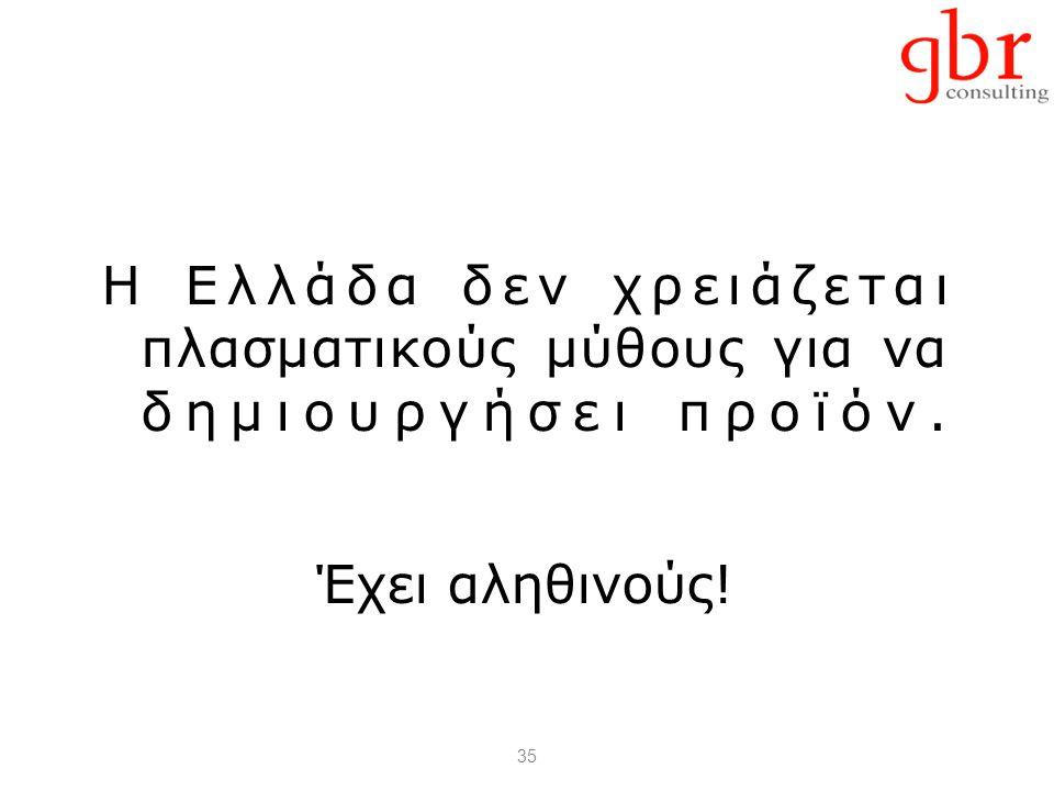 35 Η Ελλάδα δεν χρειάζεται πλασματικούς μύθους για να δημιουργήσει προϊόν. Έχει αληθινούς!