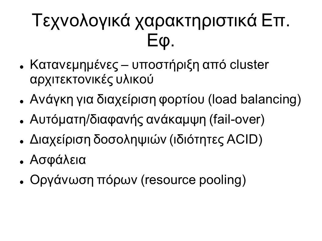 Τεχνολογικά χαρακτηριστικά Επ. Εφ.