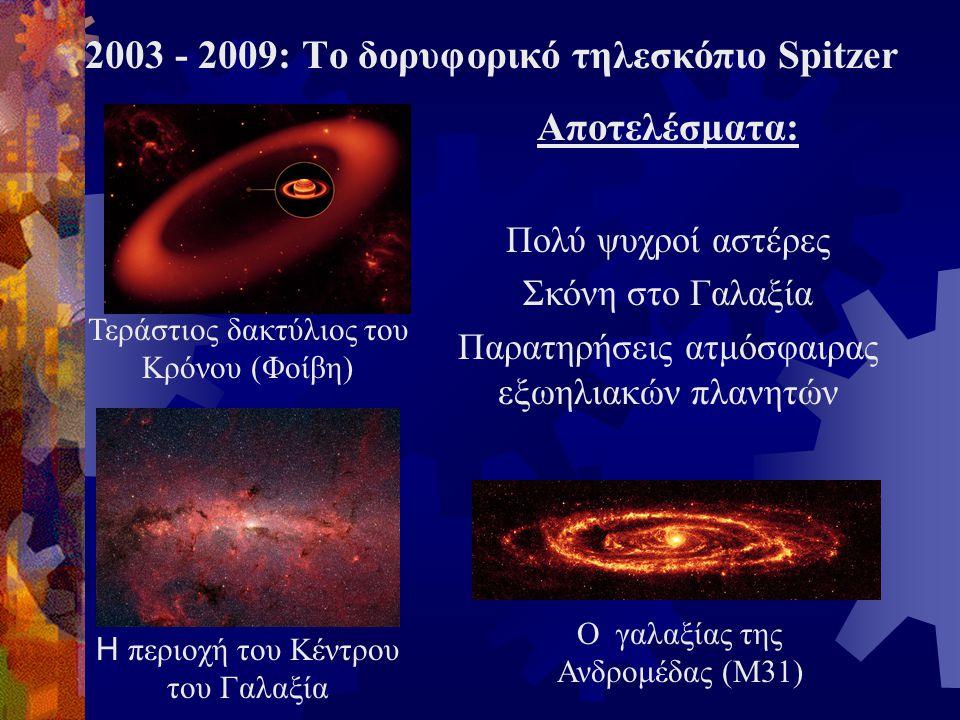 Αποτελέσματα: Πολύ ψυχροί αστέρες Σκόνη στο Γαλαξία Παρατηρήσεις ατμόσφαιρας εξωηλιακών πλανητών Τεράστιος δακτύλιος του Κρόνου (Φοίβη) Η περιοχή του