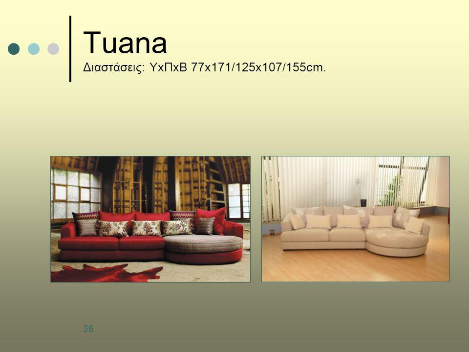 36 Tuana Διαστάσεις: ΥxΠxΒ 77x171/125x107/155cm.