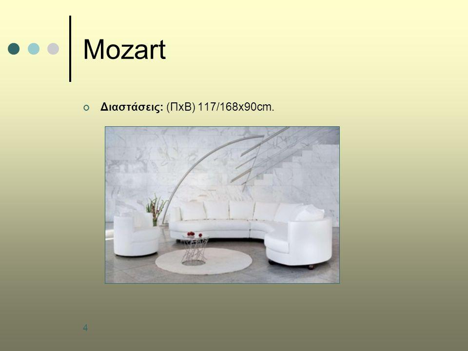 4 Mozart Διαστάσεις: (ΠxB) 117/168x90cm.
