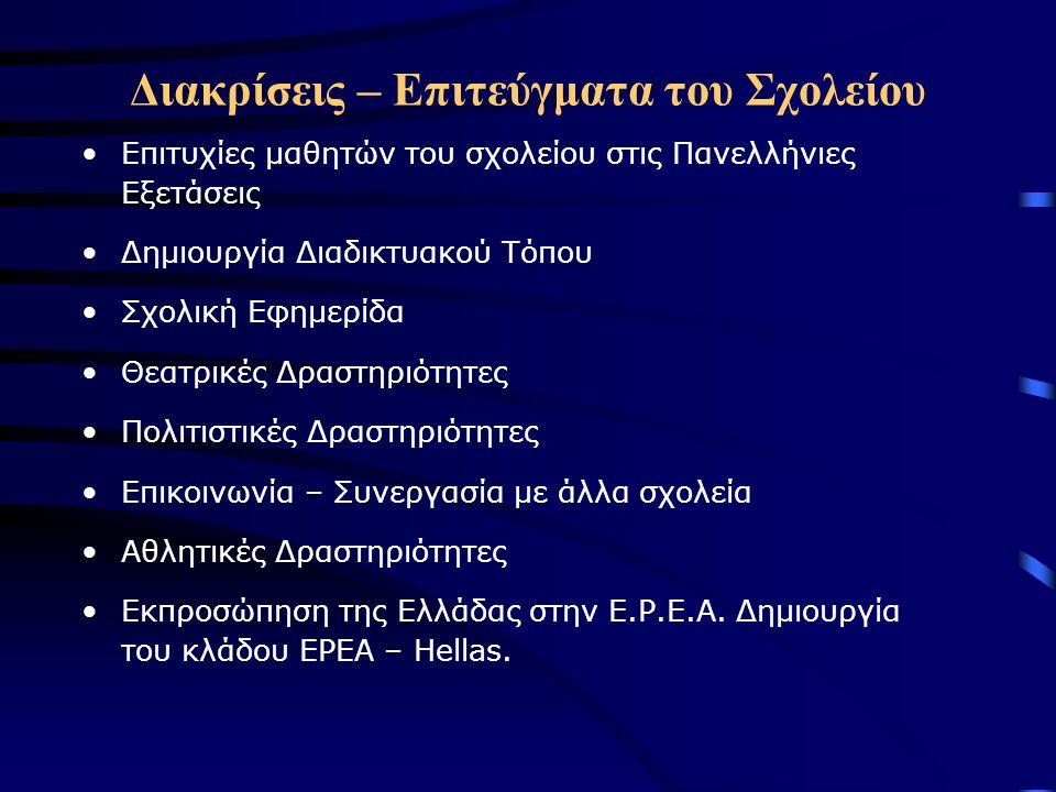 Συνεργασία με άλλα σχολεία Το 49 ο Λύκειο Αθηνών επισκέφθηκε το σχολείο μας και οι μαθητές εξέφρασαν απόψεις και γνώμες για θέματα σχετικά με τη νεολαία και την Ελληνική κοινωνία (Ναρκωτικά, Ανθρώπινες Σχέσεις, κ.λ.π.).