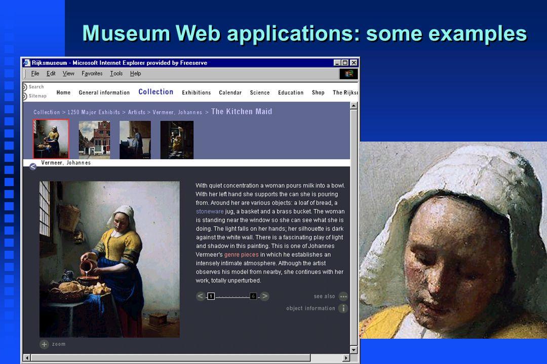 Dr Maria Economou - Virtual Museum Course 29 Museum Web applications: some examples
