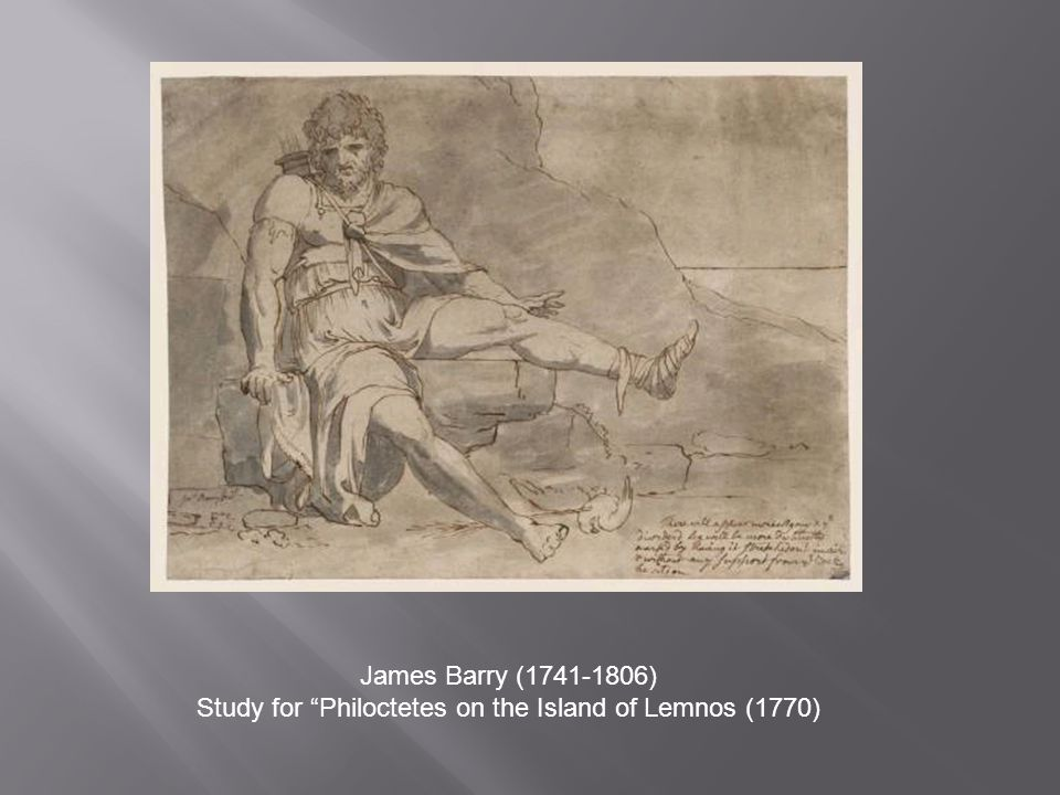 James Barry (1741-1806) Study for Philoctetes on the Island of Lemnos (1770)