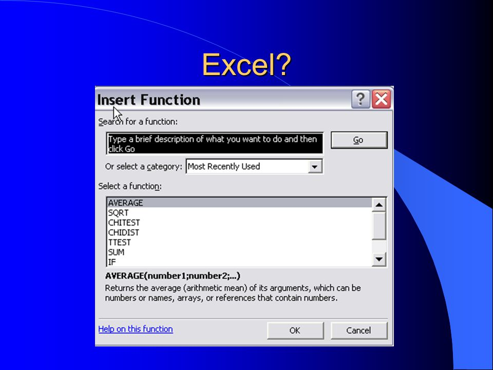 Excel?