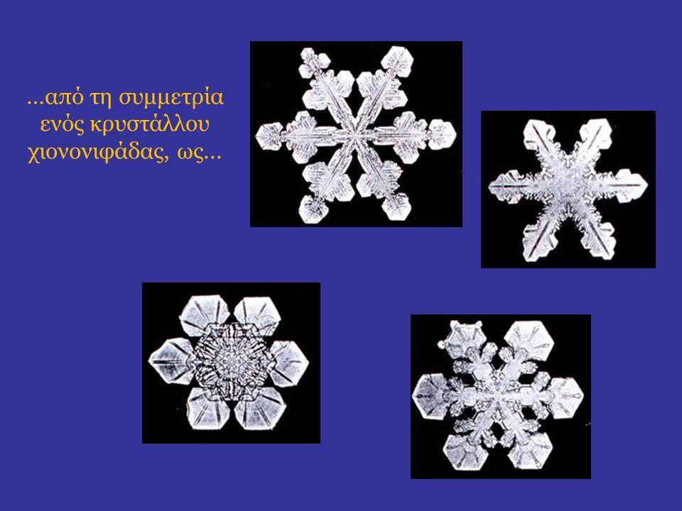 …από τη συμμετρία ενός κρυστάλλου χιονονιφάδας, ως...
