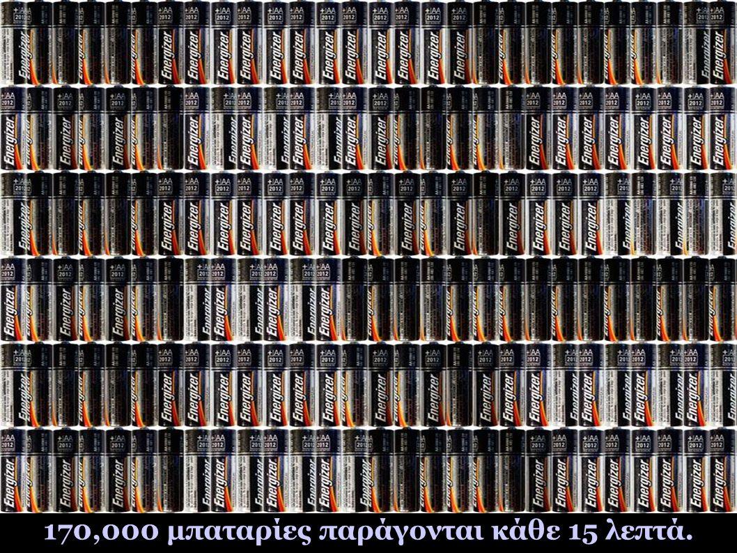 170,000 μπαταρίες παράγονται κάθε 15 λεπτά.