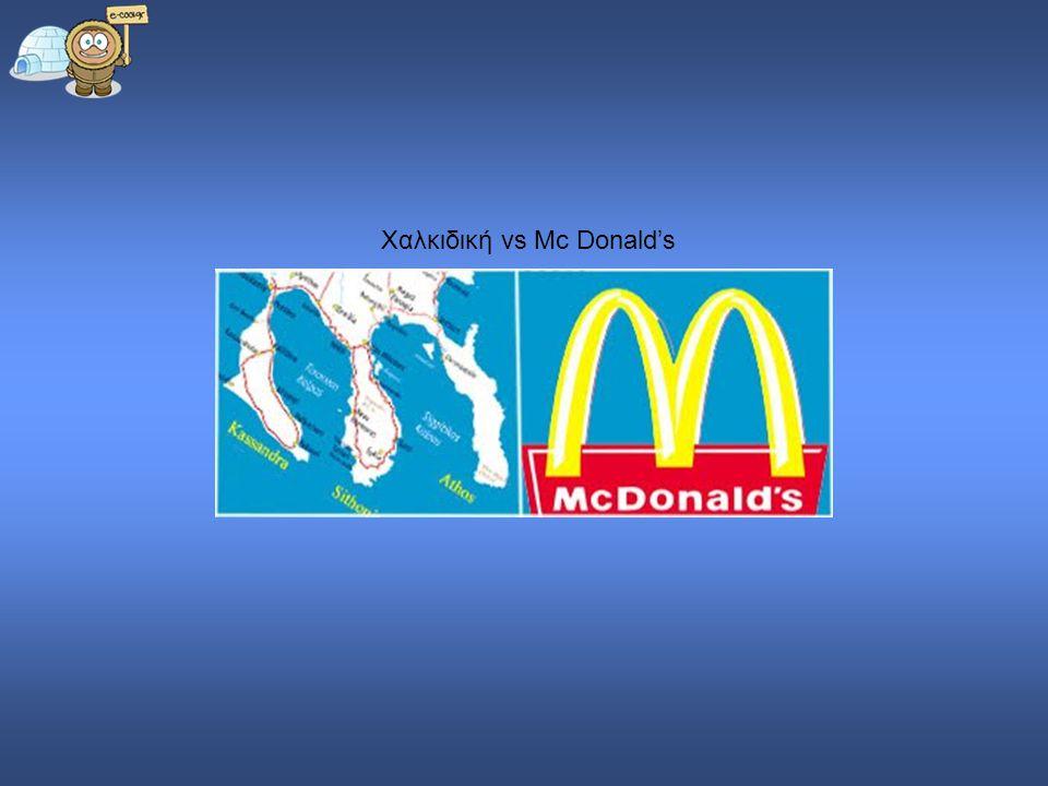 Χαλκιδική vs Mc Donald's