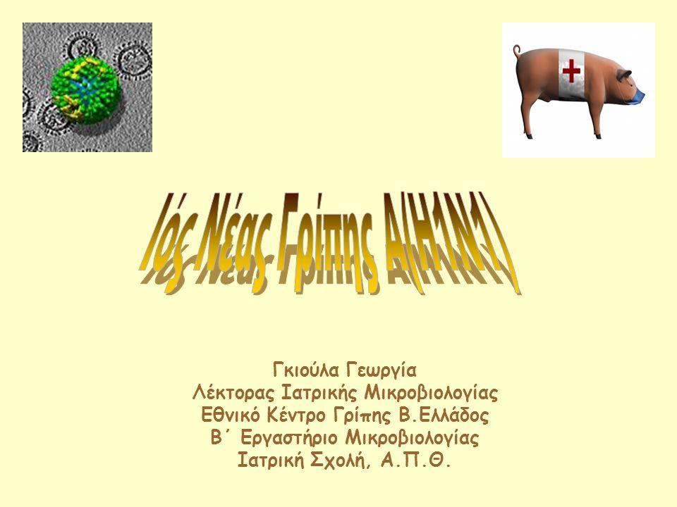 Αναστολείς νευραμινιδάσης Αντιγριπικά φάρμακα Νευραμινιδάση  Διάσπαση γλυκοσιδικών δεσμών κυττάρου – ιού  Απελευθέρωση νέων ιών από κύτταρα-ξενιστές ΖαναμιβίρηΟσελταμιβίρη Στην πλειονότητα ΕΥΑΙΣΘΗΤΟΣ Νέος ιός Α(Η 1 Ν 1 ) : Στην πλειονότητα ΕΥΑΙΣΘΗΤΟΣ