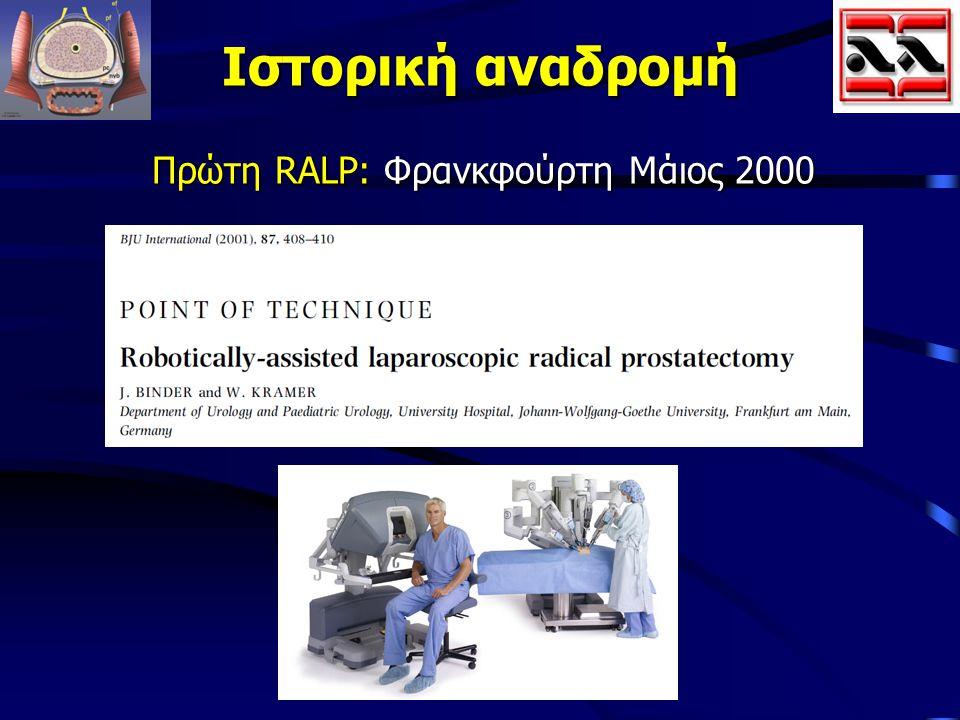 Ιστορική αναδρομή Πρώτη RALP: Φρανκφούρτη Μάιος 2000