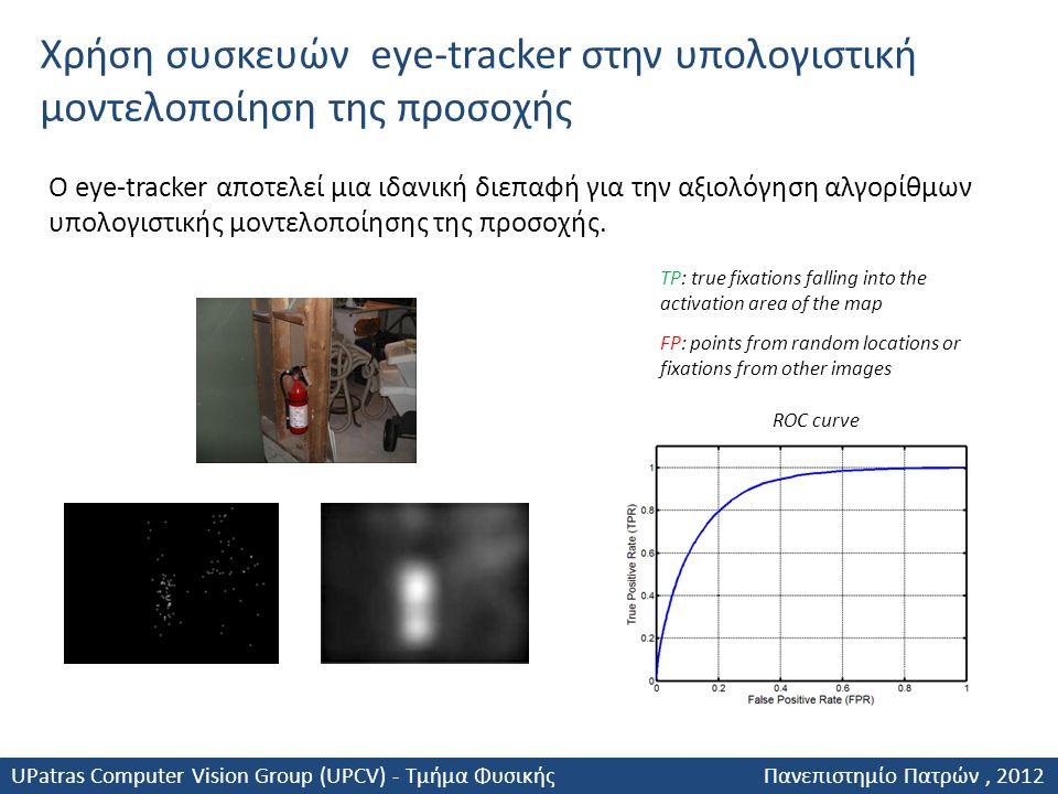 Χρήση συσκευών eye-tracker στην υπολογιστική μοντελοποίηση της προσοχής Ο eye-tracker αποτελεί μια ιδανική διεπαφή για την αξιολόγηση αλγορίθμων υπολο