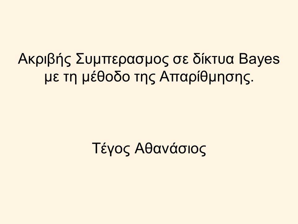 Ακριβής Συμπερασμος σε δίκτυα Bayes με τη μέθοδο της Απαρίθμησης. Τέγος Αθανάσιος
