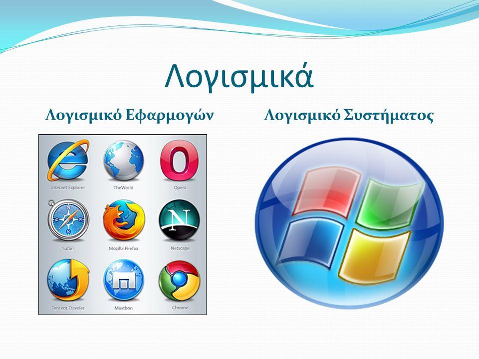 Λογισμικά Λογισμικό Εφαρμογών Λογισμικό Συστήματος