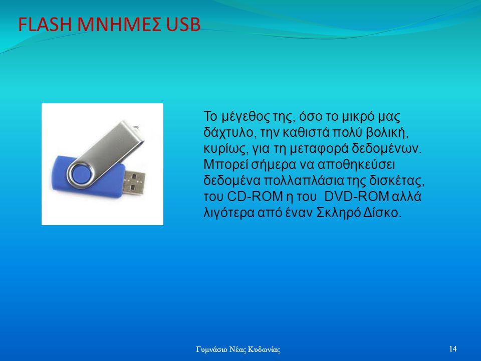 FLASH ΜΝΗΜΕΣ USB Το μέγεθος της, όσο το μικρό μας δάχτυλο, την καθιστά πολύ βολική, κυρίως, για τη μεταφορά δεδομένων. Μπορεί σήμερα να αποθηκεύσει δε