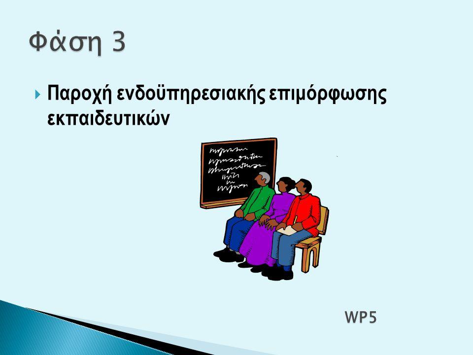  Παροχή ενδοϋπηρεσιακής επιμόρφωσης εκπαιδευτικών WP5