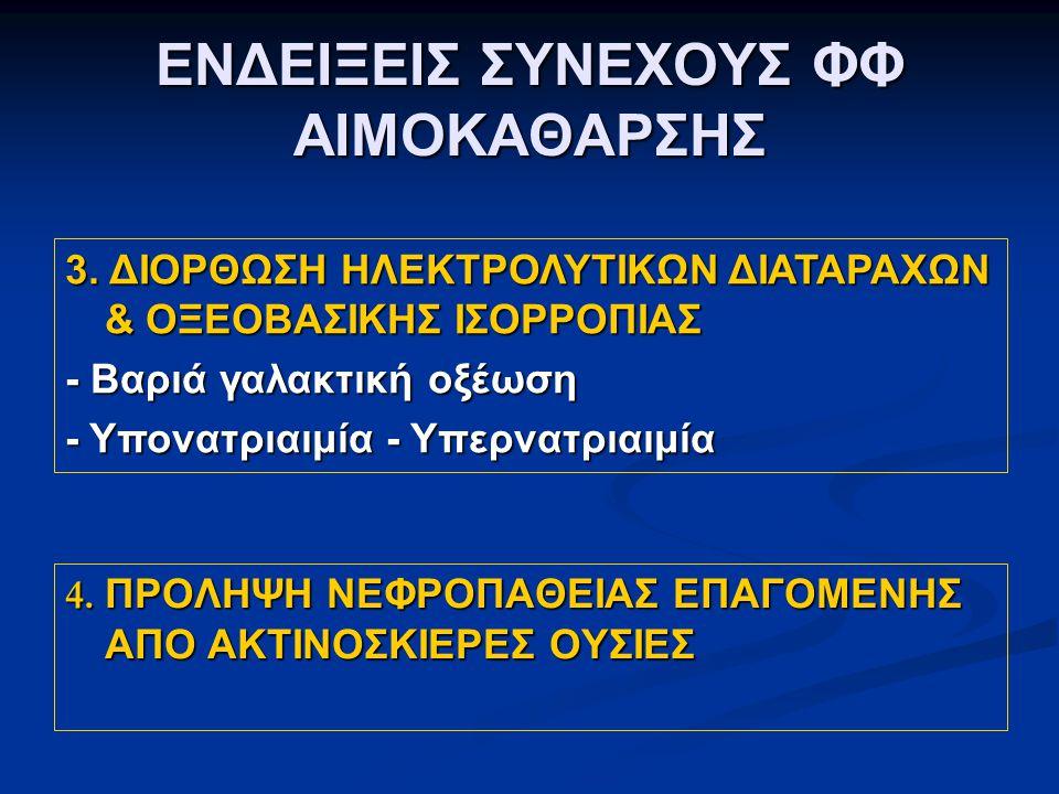 ΕΝΔΕΙΞΕΙΣ ΣΥΝΕΧΟΥΣ ΦΦ ΑΙΜΟΚΑΘΑΡΣΗΣ 3.